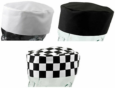 Polycotton Chefs Skull Cap Cool Cooking Kitchen Catering Hat Pack of 1 or 5
