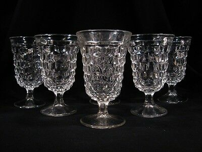 "Set of Five Vintage Footed Fostoria ""American"" Low Tumblers"