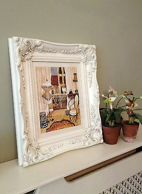ORNATE ANTIQUE STYLE PICTURE FRAME 10 x 12 BLACK GOLD SILVER IVORY WHITE