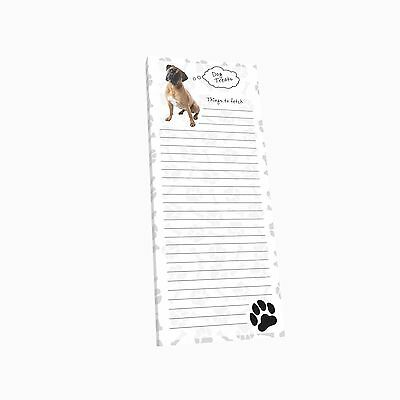 Got Yo Gifts Lined Magnetic Dog List Pad NEW Boxer