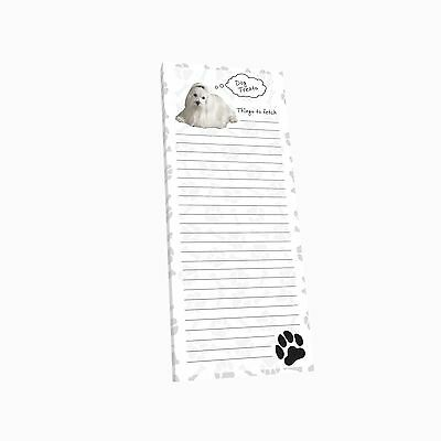 Got Yo Gifts Lined Magnetic Dog List Pad NEW Maltese