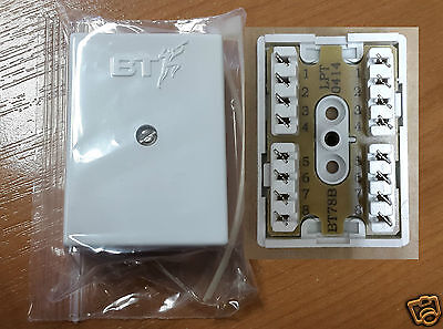 Genuine BT78a Connection Box 8 Way 4 Pair Telephone or CAT5e Junction Box BT 78a
