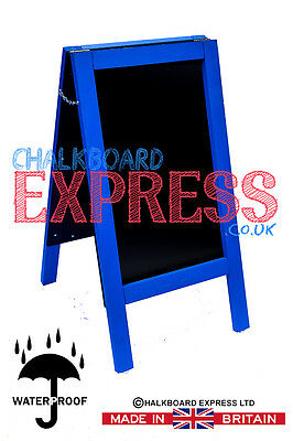 CHALKBOARD-PAVEMENT BOARD-SANDWICH-DISPLAY-BLACKBOARD - 80cm x 40cm BLUE 5KGS