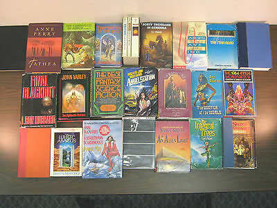 SCIENCE FICTION/FANTASY NOVELS, WHOLESALE LOT #109. (25) TITLES! FREE SHIPPING!