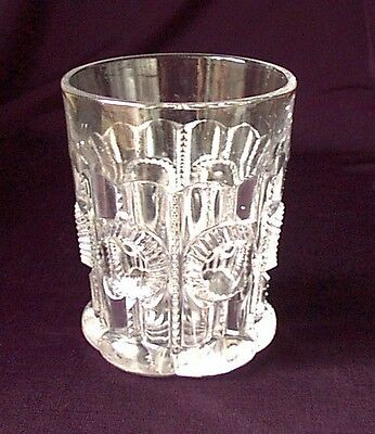 CO OP COLUMBIA EARLY WHISKEY TUMBLER COOPERATIVE FLINT GLASS COMPANY