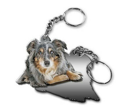 Got Yo Gifts Mirrored Acrylic Keyring Key Chain NEW Australian Shepherd