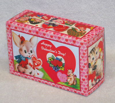 Vintage Style Valentine's Candy Box Bethany Lowe - Bunny -  New!