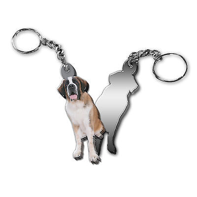 Got Yo Gifts Mirrored Acrylic Keyring NEW Saint St Bernard