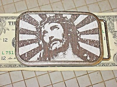 Collect Hot Buckles Jesus Christ Died for You Cast Metal Christian Church God JW