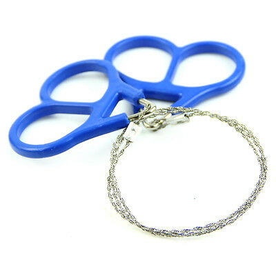 Outdoor Stainless Steel Scroll Emergency Camping Hiking Wire Saw Survival Tool