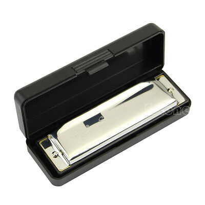 Hot! Silver Swan Harmonica 10 Hole Key of C for Blues Rock Jazz Folk Harmonicas