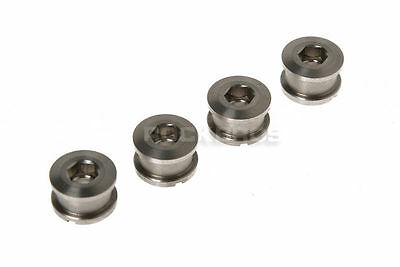 Rockbros Titanium Crankset Chainring Bolts Nuts M8 for Fixed Gear Track 4pairs