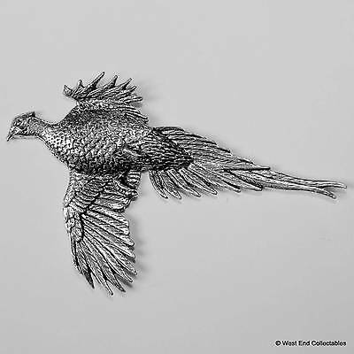 Large Pheasant Pewter Pin Brooch - British Hand Crafted - Hunting Shooting Bird