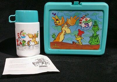 1996 THE WUBBULOUS WORLD of DR. SEUSS LUNCHBOX+THERMOS