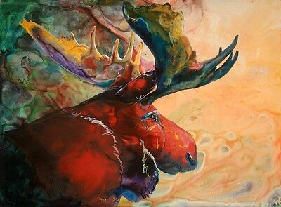 RED MOOSE 8X10 Print from Artist Sherry Shipley