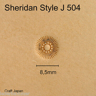Punziereisen Sheridan Style J 504 - Flower Center - Craft Japan