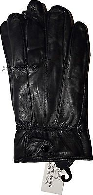 Men's Size XL Leather Gloves, Winter gloves, lined warm Black leather gloves NWT