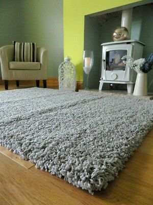 Small Medium Xx Large Light Silver Thick Soft Heavy Quality Shaggy Area Rug Mat
