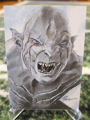 The Hobbit An Unexpected Journey ORC Sketch card  by Paul Cowan 1/1 Lord of Ring