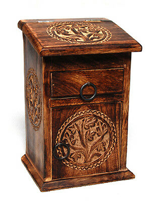Tree of Life Herb Cupboard, wood, alter, ritual, container, Pagan, Wiccan Celtic
