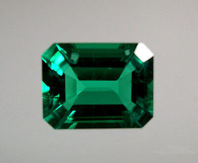 Hydrothermal Lab Created Emerald Green Octagon Loose stone (4x2-18x13mm)