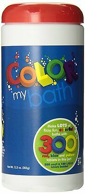 Color My Bath Color Changing Bath Tablets, 300-Piece, New, Free Shipping