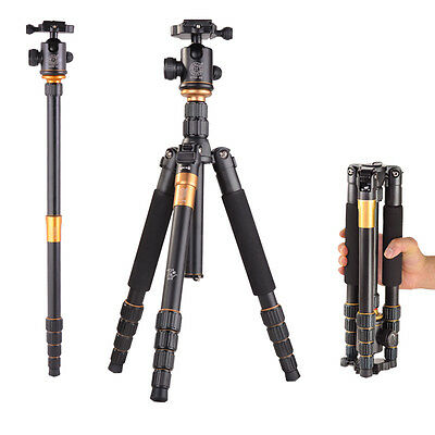 Q-666 Portable Professional Aluminum Tripod &Ball Head for DSLR Camera tripods