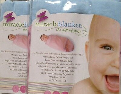 TWO BLUE Swaddle Baby Miracle Blanket. New in Package