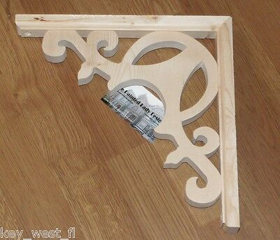 "Victorian Wood Gingerbread {11"" x 11""} Porch & House Trim Bracket #13 ~ by  PLD"
