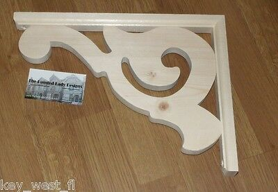 "Victorian Wood Gingerbread {13"" x 10""} Fretwork Porch Trim Bracket #16 ~ by  PLD"