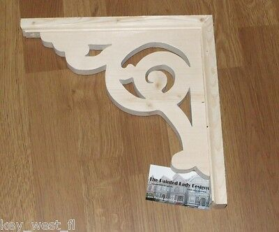 """Victorian Wood Gingerbread {11"""" x 11""""} Porch & House Trim Bracket #18 ~ by  PLD"""