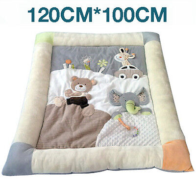 MiniDream X-Large Soft Baby Playmat Activity Gym Play Mat with Storage Bag