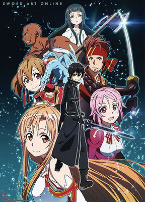 Sword Art Online Group Wall Scroll, 33 by 44-Inch