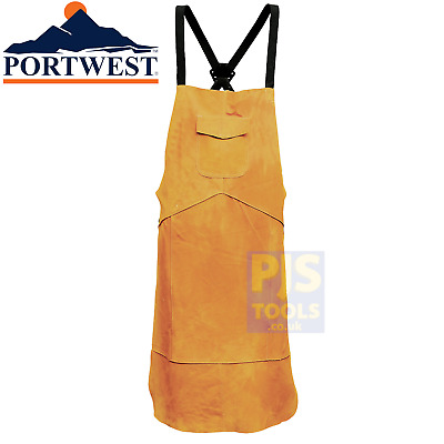 Portwest Bizweld SW10 Cowhide Leather Welders Apron Kevlar Stitched Welding