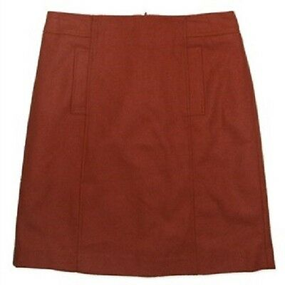 New Jacqui E Orange Wool Fully Lined Skirt Rrp$89.99 Size 6,8,10,12 - Discounted