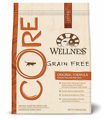 Wellness CORE Grain Free Dry Cat Food for Adult Cats, Original Fish and Fowl