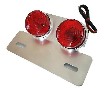 New Universal Original Twin Round Motorcycle Motorbike Rear Stop/tail Light