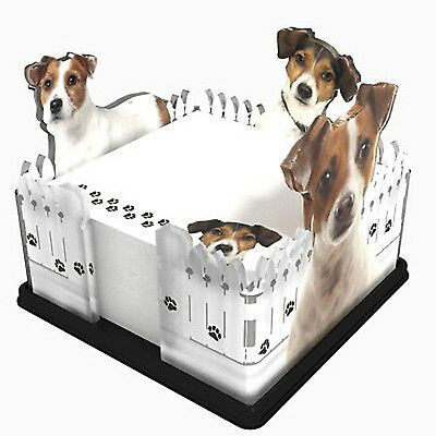 NEW Dog Sticky Note Memo Pad Holder Got Yo Gifts Jack Russell Terrier