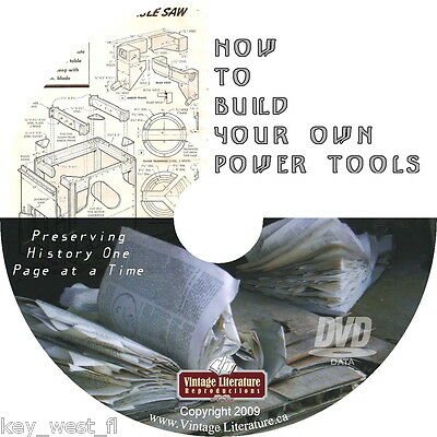 How To Build  Power Tools { 150 Do-It-Yourself Plans ~ SAVE $$ } on DVD ~ by PLD