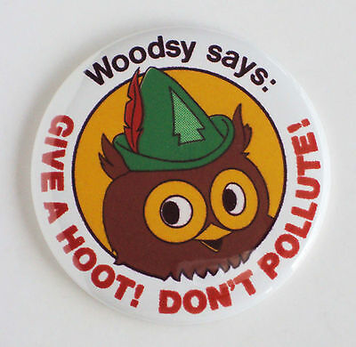 """WOODSY OWL """"Give a Hoot, Don't Pollute"""" FRIDGE MAGNET woody smokey bear"""
