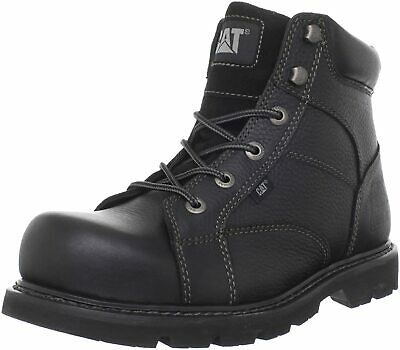 Caterpillar  TRACK ST  Mens Steel Toe Work and Safety  Black Leather Boots