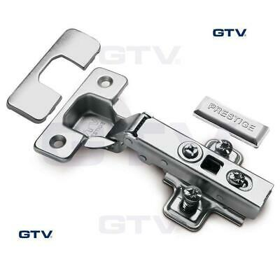 10x GTV SOFT CLOSE KITCHEN CABINET CUPBOARD DOOR HINGE HINGES EURO PLATE