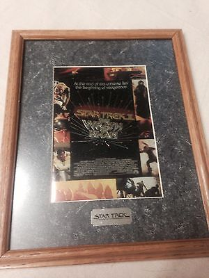 Star Trek II THE WRATH OF KHAN  Special Collectors Chromium Print With Frame