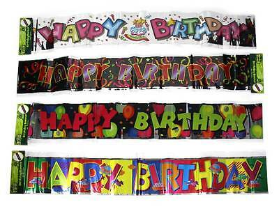 Happy Birthday Brights Foil Banner Poster Table Decoration Party Supplies