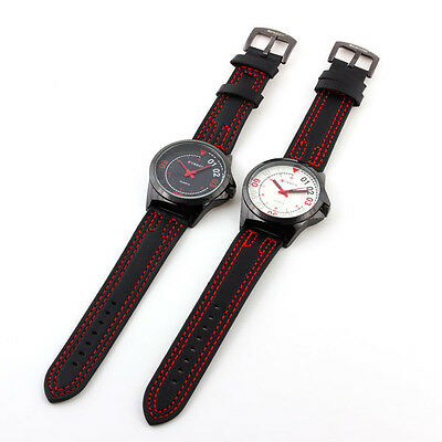 Hot CURREN Watches Silver Steel Case Running Sports Analog Casual Style Quartz