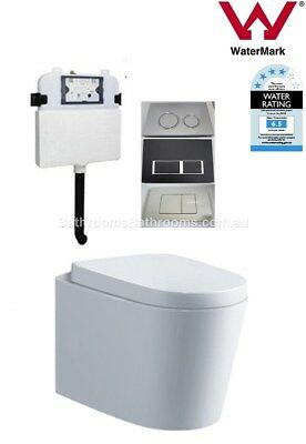 In Wall Toilet Suite New Ceramic S&P trap Soft Close Seat Concealed Cistern Curv