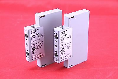 2 x SPRECHER + SCHUH CA7-PA-01 Auxiliary Contact Block Side Mount , 1 Pole
