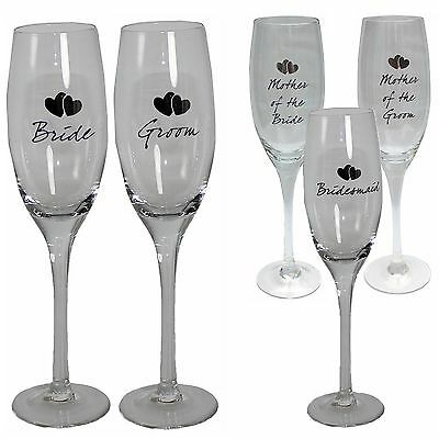 Champagne Flute - Wedding Gift - Mother of Bride/Groom Bridesmaid Bride & Groom