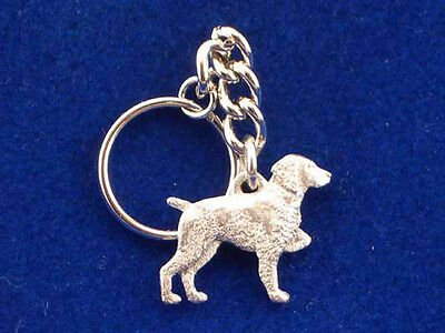 GG Harris Fine Pewter Dog Key Ring Chain & Pouch NEW Brittany Spaniel
