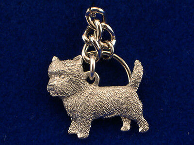 GG Harris Fine Pewter Dog Key Ring Chain & Pouch NEW Cairn Terrier